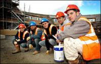 Trainees on site
